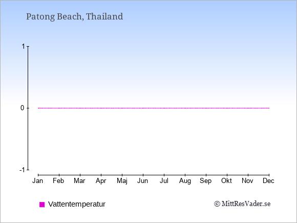 Vattentemperatur i  Patong Beach. Badvattentemperatur.